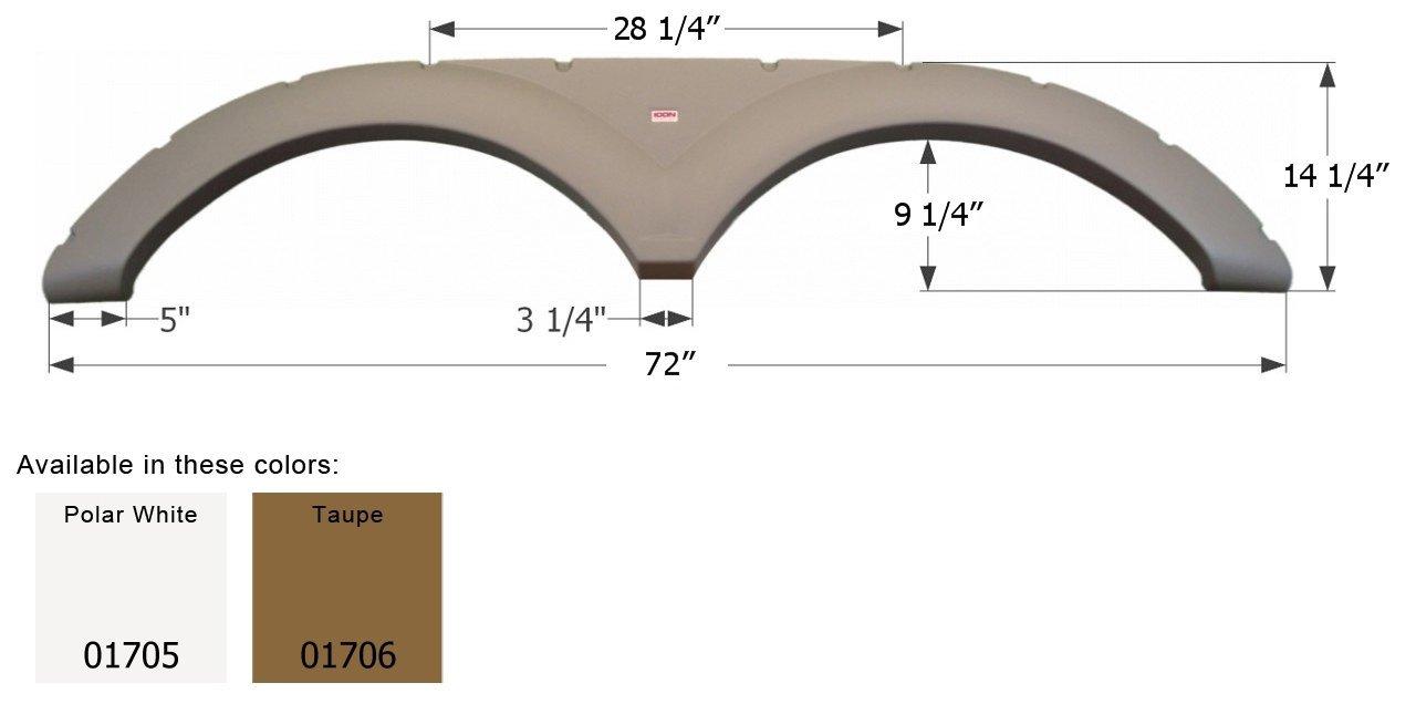 Taupe ICON Keystone Tandem Fender Skirt FS1705