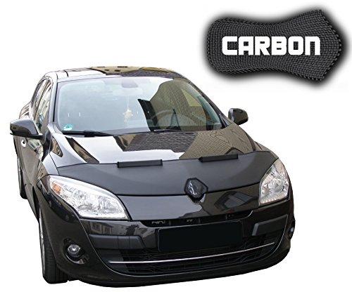 Black Bull Renault Megane 3 CARBON Protector del Capot Front End Cover Car Bra Bonnet Hood Tuning Coche Máscara NUEVO