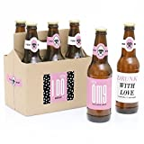 OMG, You're Getting Married! - Engagement Beer Bottle Labels with Carrier - Set of 6