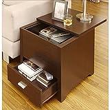 Metro Shop Furniture of America Kai Double Storage Dark Espresso End Table
