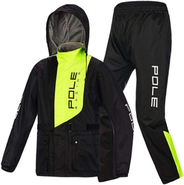 RCJCQS Wasserdichter Anzug F/ür Herren Erwachsenen Wasserdichten Anzug Mit Reflexstreifen Regenjacke Outdoor-Klettern Atmungsaktiv Motorrad Regenanzug,XXXL
