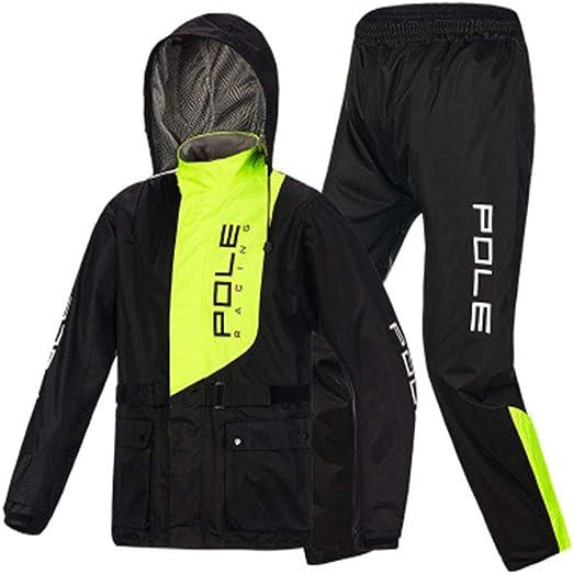 Rcjcqs Wasserdichter Anzug Für Herren Erwachsenen Wasserdichten Anzug Mit Reflexstreifen Regenjacke Outdoor Klettern Atmungsaktiv Motorrad Regenanzughsgav Xxl Küche Haushalt