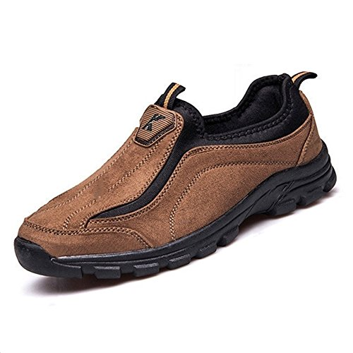Kuayang Performance Hiking Shoes Men's Go Outdoor-Journey Walking Shoes (9B(M) US-260mm, Brown)