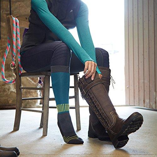 Harry Hall Botas de Equitación de Piel Para Mujer, Color Marrón, Talla 39 1/3 EU