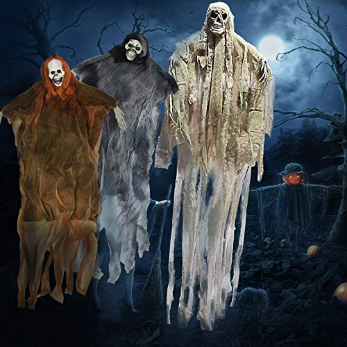 Pack of 3 Hanging Skeleton Ghost Halloween Decorations Now 23.97