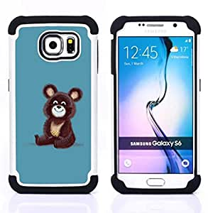 - Cute Funny Russian Bear/ H??brido 3in1 Deluxe Impreso duro Soft Alto Impacto caja de la armadura Defender - SHIMIN CAO - For Samsung Galaxy S6 G9200