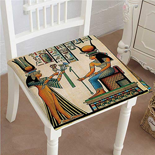 Mikihome Premium Comfort Seat Cushion Old Egyptian Papyrus Depicting Queen Nefertari with Historical Empire Artwork Multi Cushion for Office Chair Car Seat Cushion 24