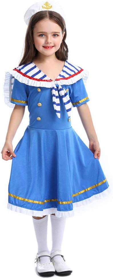 QYS Vestido de mucama de Halloween para niñas Niños Royal Little ...