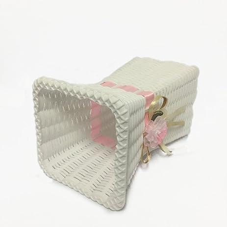 Amazon Sumbago Modern Square Plastic Vasesbraided Texture