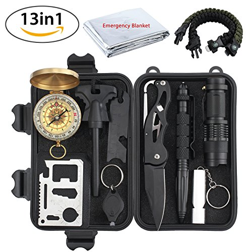 All Justech Product Comes With 18 Months US Base Warranty  Overview: This Mini Survival Kit is multifunctional, containing tactical pen, survival knife, tactical flashlight, fire starter ,whistle, Paracord Bracelets, an ideal Sur...