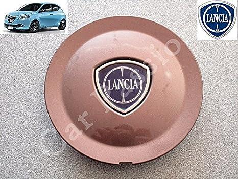 1 Coppetta Tapacubos Lancia Ypsilon Y A partir de 2011 Escudo original trago Tapón Llanta de aleación color bronce: Amazon.es: Coche y moto
