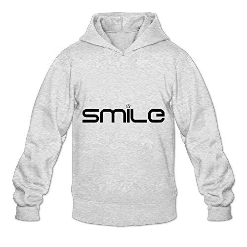 NG R Adult's Mona Lisa Smile Hooded Sweatshirt With No Pocket Ash XX-Large