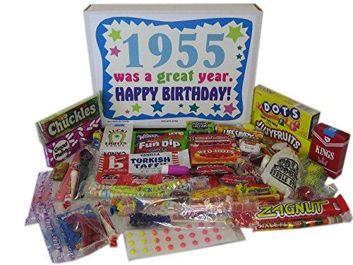 1955 62nd Birthday Gift Basket Box Retro Nostalgic Candy From Childhood