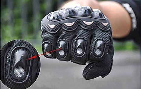 KASER Guanti Estivo per Moto Scooter Protettivo in Fibra PU Cuoio per Bici MTB e Altri Sport Completa Protezione Antiscivolo Touch Screen Taglia L