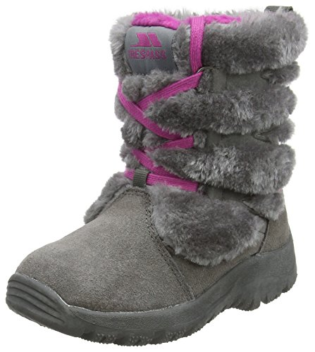 Trespass Isadora Girls Winter Boots Faux Fur Calf Snow Shoes by Trespass