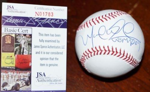 "MANNY RAMIREZ ""04 WS MVP"" Signed MLB BASEBALL + JSA COA #N01783 - Autographed Baseballs by Sports Memorabilia"