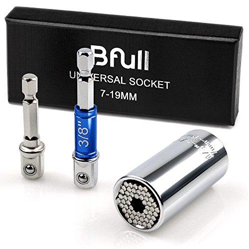 Universal Socket, Bfull Power Socket Wrench 7-19mm Universal Socket Wrench, Universal Grip Gator Socket, Magic Socket Drill, Power Ratchet Wrench, Universal Wrench Gator Socket