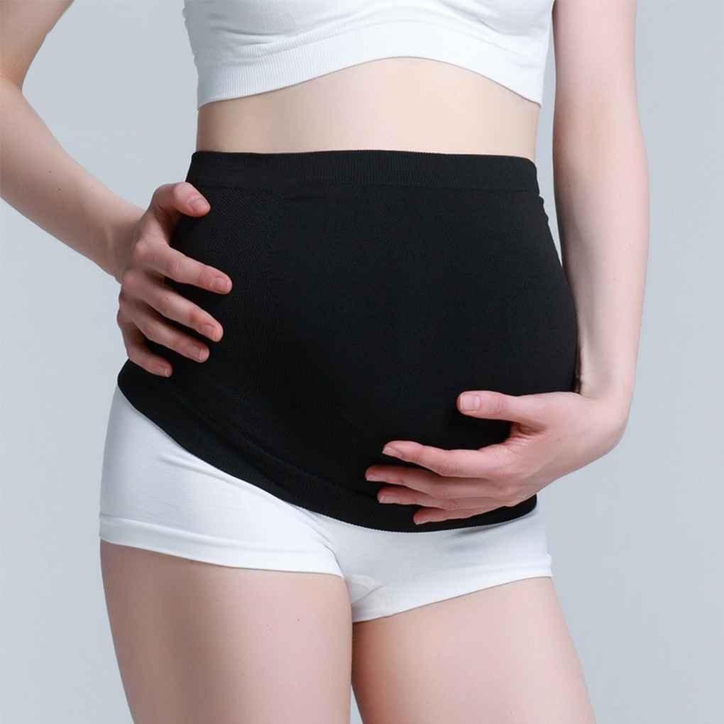 Babysbreath17 Flexible Cotton Schwangerschaft-G/ürtel Schwangere Frauen Abnehmen Abdomen Pflege Strap Toning Bauchband G/ürtel Bindung Schwarz M