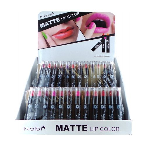 12pc Nabi Cosmetics Professional Selected MATTE Lip Color Lipstick Set of 12 Shades