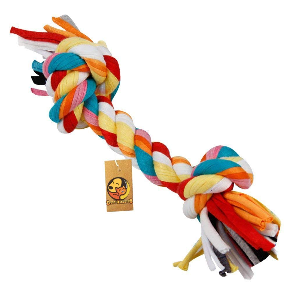 Durable Dog Chew Rope Toy - Interactive Teething Dog Toy