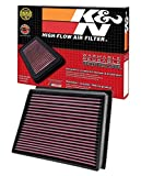 K&N engine air filter, washable and reusable:  2011-2016 Chevy/GMC Heavy Duty Diesel Truck (Silverado 2500HD, Silverado...