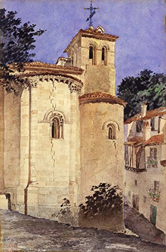 Church At Segovia, Spain by Cass Gilbert 32'' x 24'' Oil on Canvas Reproduction Painting by Cutler Miles