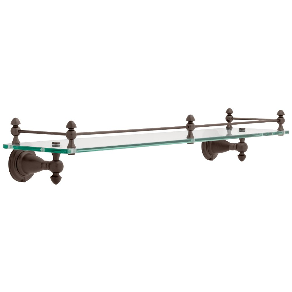 Delta Faucet 75010-RB Victorian, Bath Hardware Accessory 18'' Glass Shelf, SpotShield Venetian Bronze