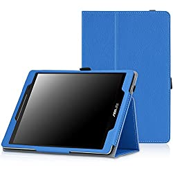 MoKo ASUS ZenPad 8.0 Case - Premium Ultra Compact Slim Folding Stand Cover Case for ASUS ZenPad Z380M/Z380C/Z380KL 8.0 inch Tablet, BLUE
