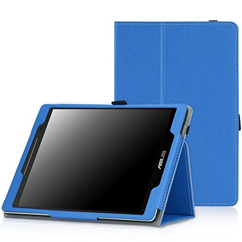 MoKo ASUS ZenPad 8.0 Z380M Case - Slim Folding Stand Cover with Auto Wake/Sleep Function for 2015 ASUS ZenPad Z380M / Z380C / Z380KL 8.0 8-Inch Tablet, Blue