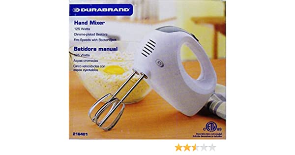 Amazon.com: DURABRAND HAND MIXER: Dura Brand Hand Mixer: Kitchen & Dining