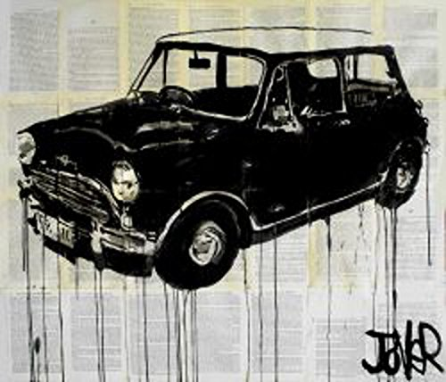 Retro Car by Loui Jover Vintage Vehicle Mini Cooper Poster (Choose Size of Print)