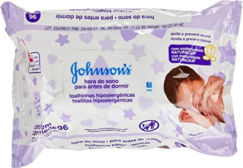 Johnson's Toalhinhas Hipoalergênicas Hora do Sono - 96 Unidades
