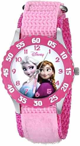 Disney Kids' W000970 Frozen Snow Queen Watch with Pink Nylon Band