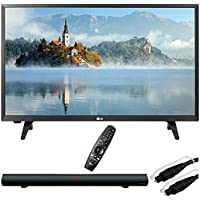 LG 28LJ430B-PU 28-Class HD 720p LED TV with Sharper Image 37 Sound Bar Bluetooth Speaker With Optical Input and 6ft Optical Toslink 5.0mm OD Audio Cable