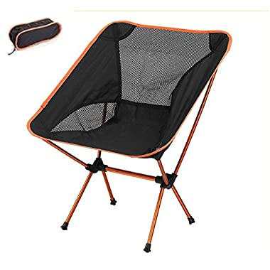 Portacamp Ultralight Compact Folding Camping/Tailgating/Fishing/Sports Chair (Orange)