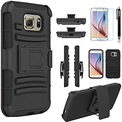 Galaxy S7 Case, Combo Rugged Shell Cover Holster with Built-in Kickstand and Holster Locking Belt Clip + Circle Sales