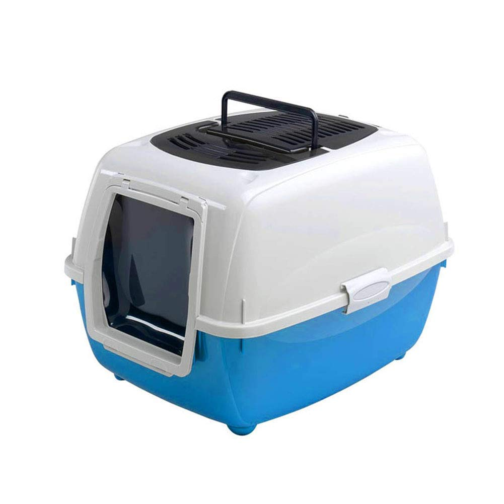 bluee Welhome Cat Litter Box Jumbo, Kitty Litter Box,Falling Sand Pedal, Kitty Litter Box, Clamshell Design Hooded Cat Pan Hooded Cat Pan,bluee