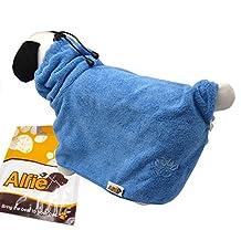 Alfie Pet by Petoga Couture - Moriah Microfiber Fast-Dry Pet Bathing Towel - Color: Blue, Size: L