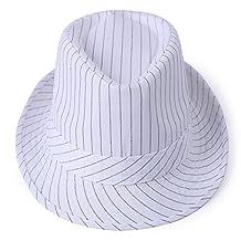 HDE Unisex Pattern Stingy Short Brim Gangster Cuban Style Fedora Hat Cap