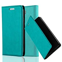 Cadorabo - Book Style Wallet with Stand Function for Samsung Galaxy S4 with Card Slot and invisible Magnetic Closure - Etui Case Cover Protection in PETROL-TURQUOISE