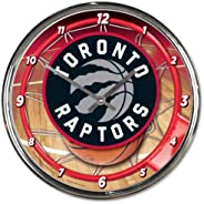 Toronto Raptors - Chrome Clock (12 inch Diameter)