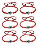 LOYALLOOK 6pcs Braided String Kabbalah Bracelets