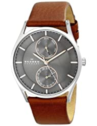 "Skagen Men's SKW6086 ""Holst"" Stainless Steel Watch with  Brown Leather band"