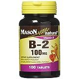 Mason Natural B-2 100 mg Tablets - 100 ct, Pack of 4