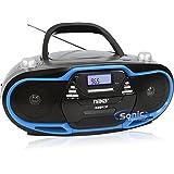 Naxa NPB-257 Portable MP3/CD Player, AM/FM Stereo Radio& USB Input- Blue