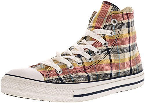 10155a6b0160 Converse Chuck Taylor Taylor Taylor Plaid Hi Blue Yellow High-Top Canvas  Fashion Sneaker - 10M 8M B07DMBTJFW Shoes 6479dc
