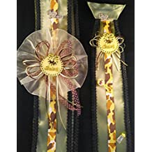 Its A Boy, Yellow Desert Camouflage Military / Navy Baby Shower Brave Sash And Tie