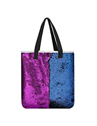 Zicac Women Girl Reversible Mermaid Sequins Shoulder Bag Fashion Shopping Handbag Messenger (Style 2)