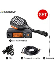 Zastone Mini Mobile Radio 128-Channel 25W UHF/VHF 136-174/400-480MHz Dual Band Mobile Transceiver Car Ham Amateur Radio