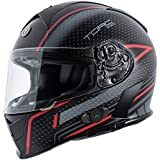Torc T14B Blinc Loaded Scramble Mako Full Face Helmet (Flat Black with Graphic, XX